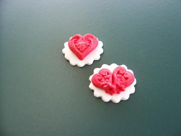 edible sugarpaste valentines day cupcake topper